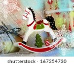 christmas composition with... | Shutterstock . vector #167254730