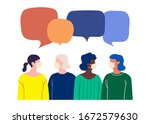 people in white medical face... | Shutterstock .eps vector #1672579630