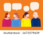 people in white medical face... | Shutterstock .eps vector #1672579639