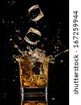 isolated shot of whiskey with... | Shutterstock . vector #167259944