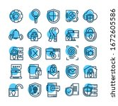 set of icons security  line... | Shutterstock .eps vector #1672605586