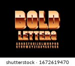 vector golden bold font. luxury ... | Shutterstock .eps vector #1672619470