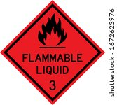 Flammable Liquid Caution Sign....