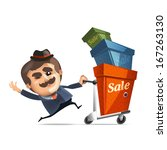 shopping. vector format | Shutterstock .eps vector #167263130