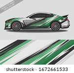 car wrap decal design vector ...   Shutterstock .eps vector #1672661533