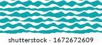 wavy lines vector seamless... | Shutterstock .eps vector #1672672609