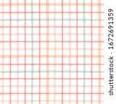 gingham seamless pattern.... | Shutterstock .eps vector #1672691359