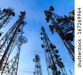 telecommunication tower against ...   Shutterstock . vector #167269964
