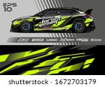 car wrap graphic livery design... | Shutterstock .eps vector #1672703179