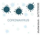 coronavirus sign covid 19... | Shutterstock .eps vector #1672705030