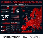 europe map   coronavirus covid... | Shutterstock .eps vector #1672720843
