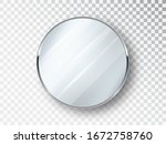 mirror round isolated.... | Shutterstock .eps vector #1672758760