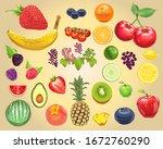 photo realistic fruit vector... | Shutterstock .eps vector #1672760290