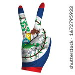 victory finger gesture with...   Shutterstock .eps vector #1672795933