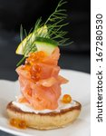 Single Blini Appetizer With...