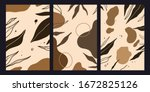 natural abstract set of... | Shutterstock .eps vector #1672825126