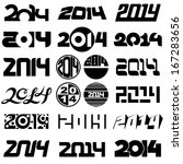 new year 2014 number design set | Shutterstock . vector #167283656
