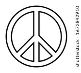 peace sign icon for...   Shutterstock .eps vector #1672842910