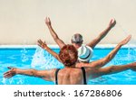 person aged group doing water... | Shutterstock . vector #167286806