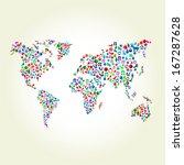 Christmas Gift On World Map...