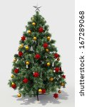 christmas tree with decorations ... | Shutterstock . vector #167289068