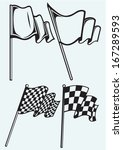 checkered flags isolated on...   Shutterstock .eps vector #167289593