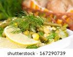 Salad Of Fresh Leek With Green...