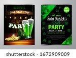 st. patrick s day poster.... | Shutterstock .eps vector #1672909009
