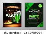 st. patrick s day poster.... | Shutterstock .eps vector #1672909039