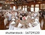 elegant wedding reception area... | Shutterstock . vector #16729120