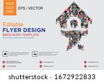 poster and flyer design with... | Shutterstock .eps vector #1672922833