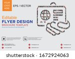 poster and flyer design with... | Shutterstock .eps vector #1672924063