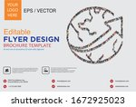 poster and flyer design with... | Shutterstock .eps vector #1672925023
