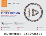 poster and flyer design with... | Shutterstock .eps vector #1672926673