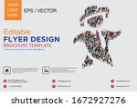 poster and flyer design with... | Shutterstock .eps vector #1672927276