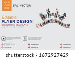 poster and flyer design with... | Shutterstock .eps vector #1672927429