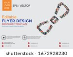 poster and flyer design with... | Shutterstock .eps vector #1672928230