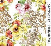 abstract elegance seamless... | Shutterstock .eps vector #1672931050