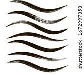 makeup strokes  set of mascara... | Shutterstock .eps vector #1672997353