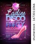 disco ball background. disco... | Shutterstock .eps vector #1673011066