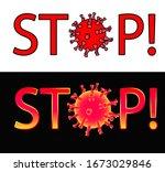 vector image of a coronavirus... | Shutterstock .eps vector #1673029846