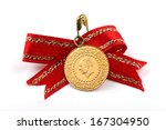 1 4 turkish gold coin necklace. ... | Shutterstock . vector #167304950