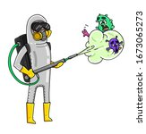 corona virus  cartoon character ... | Shutterstock .eps vector #1673065273
