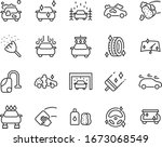 set of auto care icons  car... | Shutterstock .eps vector #1673068549