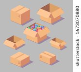 a set of vector isometric boxes....
