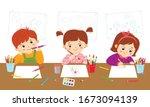 children's creativity in art... | Shutterstock .eps vector #1673094139