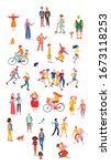 large group of people... | Shutterstock .eps vector #1673118253
