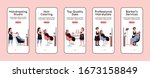 hairdressing salon onboarding...   Shutterstock .eps vector #1673158849