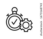 gear  check mark  stopwatch...