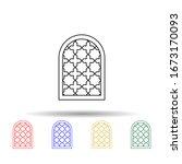 window frame arabic multi color ...